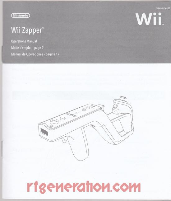 rf generation wii zapper nintendo wii manual scan rh rfgeneration com Investigacion De Operaciones manual de operaciones de consola wii