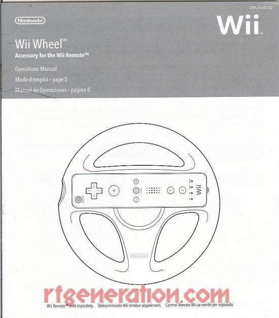 Wii Wheel  Manual Scan