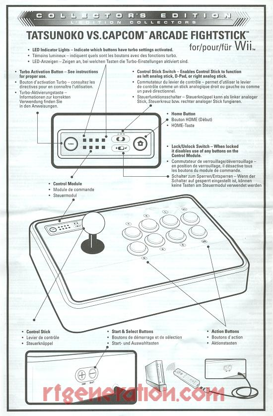 Arcade FightStick Collector's Edition - Tatsunoko VS. Capcom Manual Scan