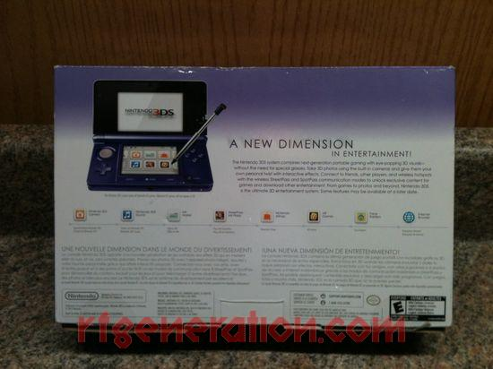 Nintendo 3DS Midnight Purple Box Back Image