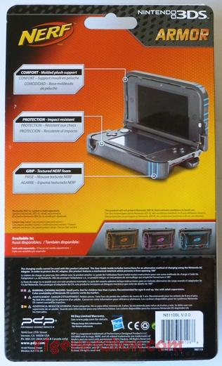 3DS XL Nerf Armor  Box Back Image