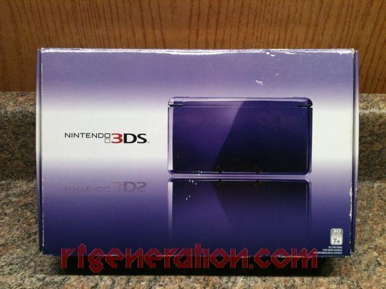 Nintendo 3DS Midnight Purple Box Front Image