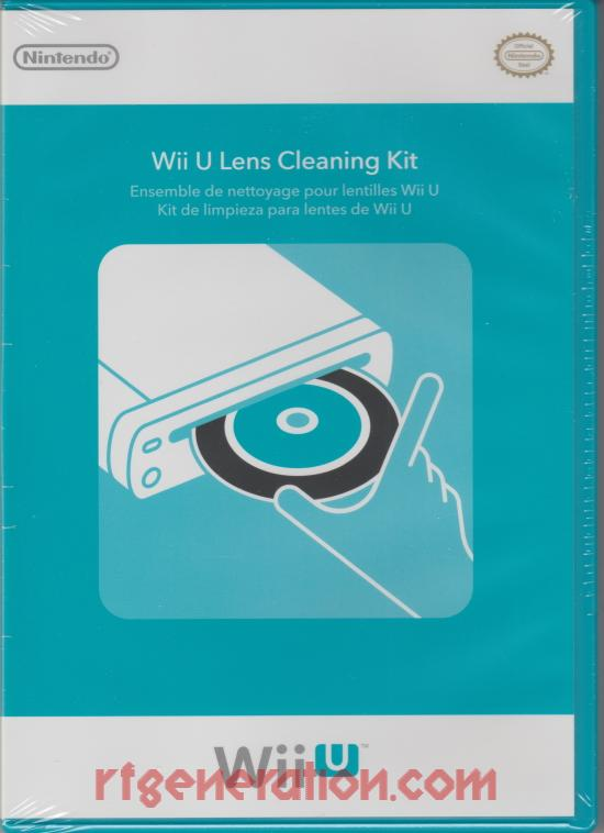 Wii U Lens Cleaning Kit  Box Front Image