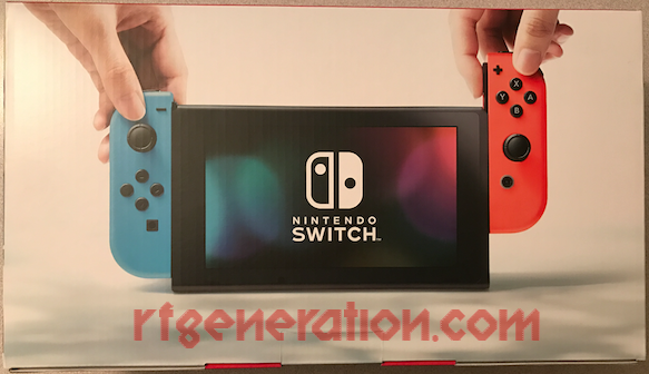 Nintendo Switch Neon Red / Neon Blue Joy-Con Box Back Image