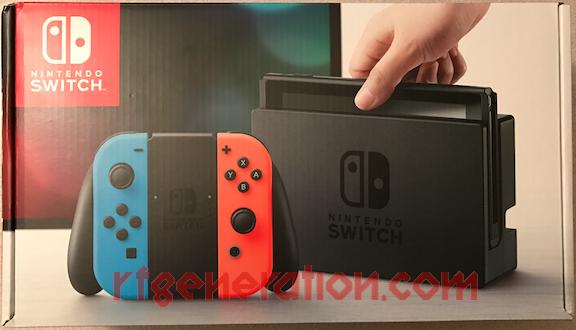 Nintendo Switch Neon Red / Neon Blue Joy-Con Box Front Image