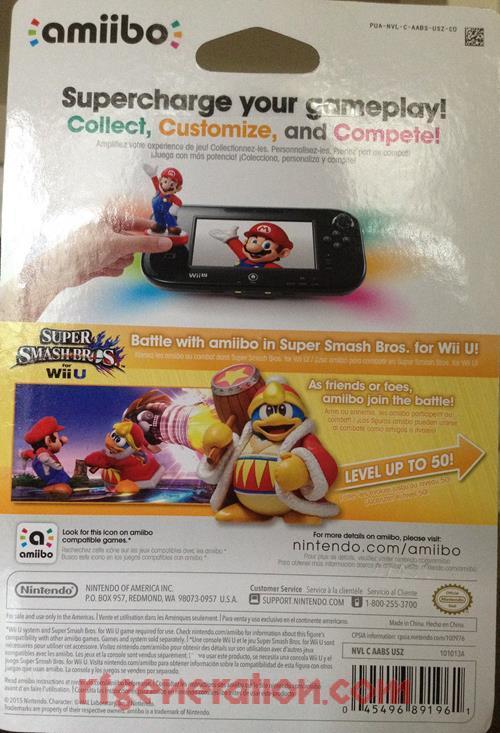 Amiibo: Super Smash Bros.: King Dedede  Box Back Image