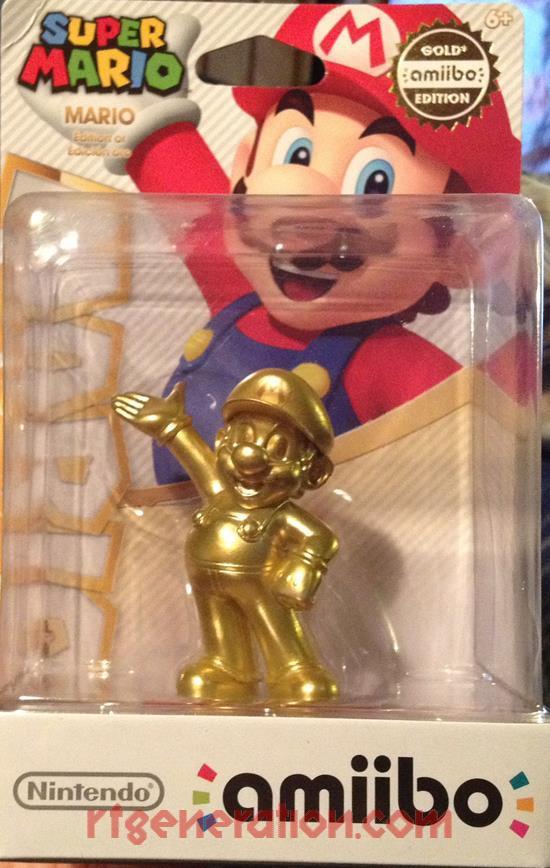 Amiibo: Super Mario Bros.: Mario Gold Box Front Image