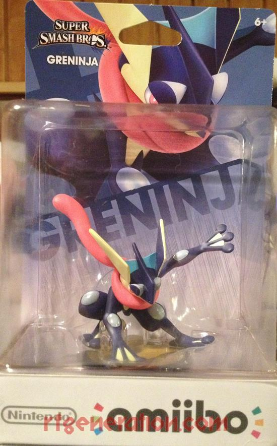 Amiibo: Super Smash Bros.: Greninja  Box Front Image