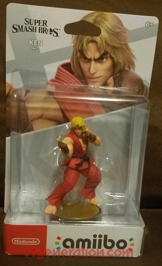 Amiibo: Super Smash Bros.: Ken  Box Front Image