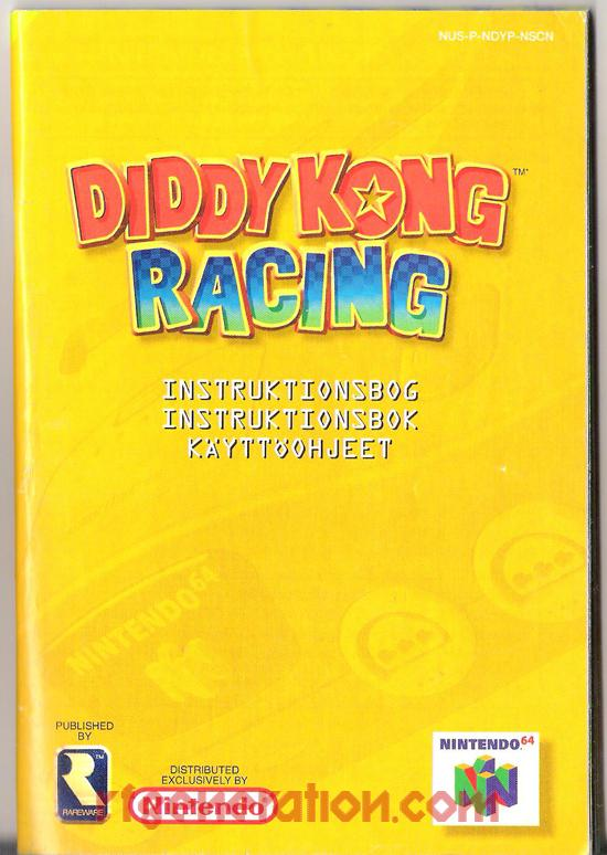 Diddy Kong Racing Manual Scan