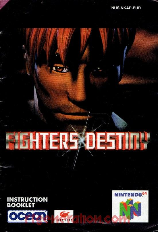 Fighters Destiny Manual Scan