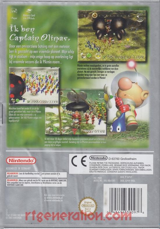 Pikmin <sup>[Player's Choice]</sup> Box Back