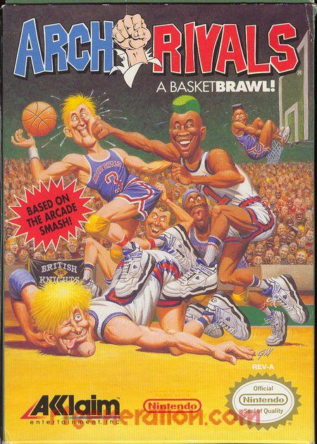 Arch Rivals: A BasketBRAWL! Box Front