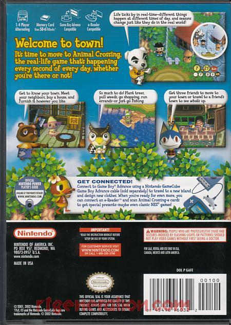 Animal Crossing <sup>[Supplemental UPC]</sup> Box Back