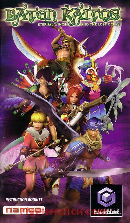 Baten Kaitos: Eternal Wings and the Lost Ocean Manual Scan